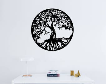 Tree Of Life Decal  sc 1 st  Etsy & Universal religion tree of life sticker vinyl sticker tree of