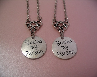 2 My Person Necklace Set Jewelry Gift Friends or Sisters