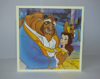 Beauty & the Beast - Disney Stitched Greeting Card and Envelope - Blank