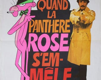 """Movie poster """"Quand la panthere rose s'emmêle"""" (The pink panther strikes again) -Original-"""