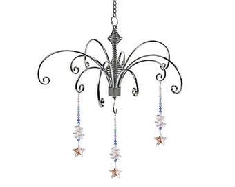 2pcs Crystal suncatcher angel prism ball hanging  rainbow maker feng shui display