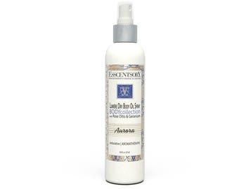 AURORA Lumière Dry Oil Body Spray | Personal Fragrance | Rose Otto & Geranium | Aromatherapy