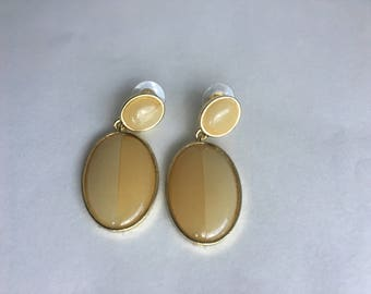 Yellow Gold-plated Rim Earrings