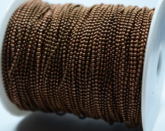 10 Meter 33 Feet Copper Plated 1.5 mm Ball Chain