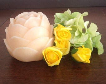 Handmade carved wax Rose Wick candles for Gifting/Home-Garden Decor