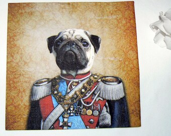2  images Napkins from pug in uniform