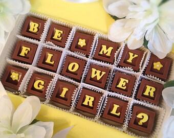 Flower Girl Gift - Flower Girl Chocolates - Wedding Party Attendant Gift