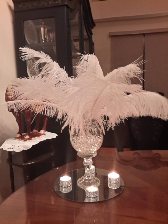 Ostrich Feathers Centerpiece Best Home Interior
