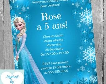 Reine des neiges etsy invitation la reine des neiges fte danniversaire disney frozen tlchargement instantan invitation stopboris Images