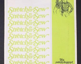 70's Stretch and Sew 935 Uncut Sewing Pattern, Boys Dress Shirt, All Sizes XS, S, M, L, XL