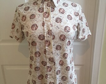 Big sale Vintage mid century modern shirt blouse The Shirt
