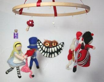 Alice in Wonderland - Needle Felted Mobile