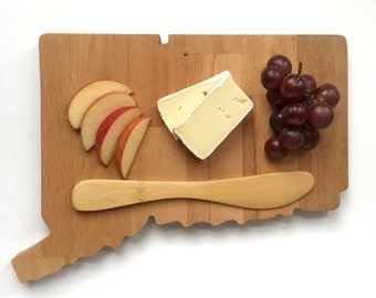 Connecticut Cheese Board, State Cutting Board, Wedding Gift, Serving Board, Chopping Board, Wood Gift