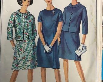 Vintage 60s Simplicity 6978 Suit Pattern-Size 12 (32-25-34)