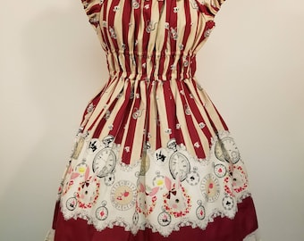 White Rabbit Alice in Wonderland Themed Onepiece Dress