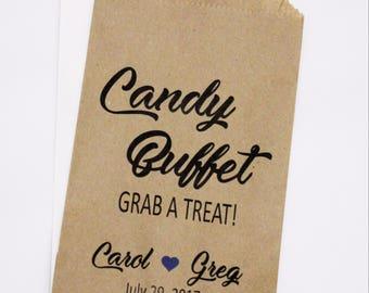 Candy Bag, Wedding Favor Bag, Wedding Candy Bag, Candy Buffet Bag
