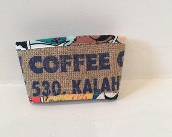 Coffee Sleeve/ Cozy/ Kauai Coffee Company Coffee Sack