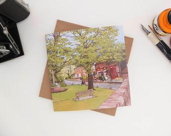 Greeting Card: Sparsholt Village, Hampshire