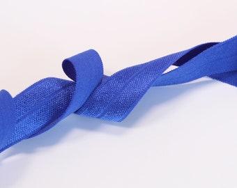 1m (1.09 yd) Fold Over Elastic (FOE) - Blue - 15 mm Wide