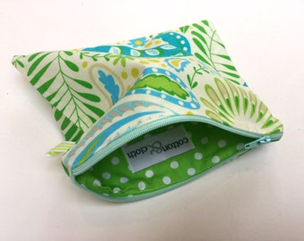 Zesty Lime Zippy Make-up Cosmetic Bag Pencil Case