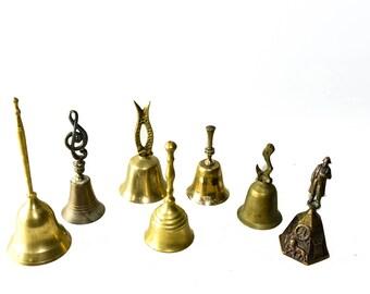 Lot of Large Vintage Brass Bells