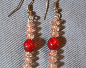 Red Line Earrings