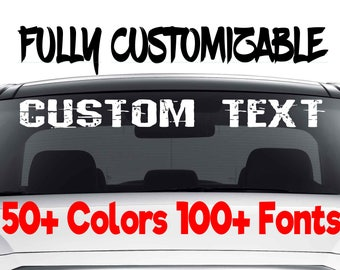Custom Window Decal Etsy - Custom window decals for vehicles