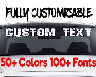 Custom Car Decals Etsy - Custom made bumper stickers