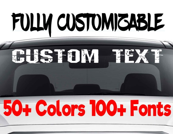 Customizable Window Stickers