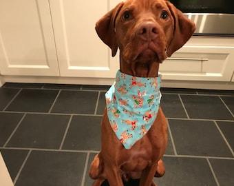 Rudolph winter dog bandana!
