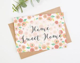 New Home Card Floral Bright