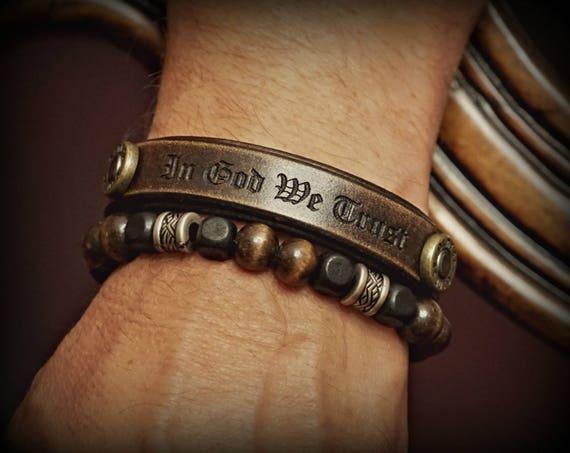 Leather bracelet, Men's Leather Bracelet, Women's Leather Bracelet, Personalized Leather Bracelet, Leather Wristband, Unique Leather