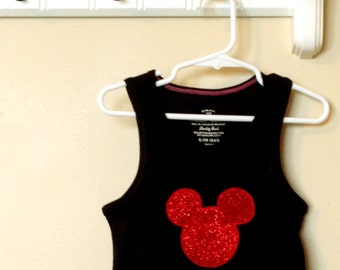 Mouse Inspired Sparkle Tank Sizes 5 - 12