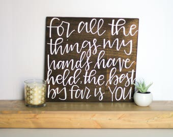 Square Wood Quote Sign - .25in