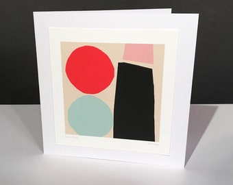 Going Dutch.Fine Art Card. Abstract Themed Handmade Card. Any Occasion Card.