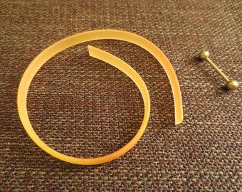 Tape and stick for making bracelet - matte coral color