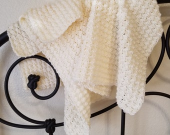 Crocheted Puff Stitch Baby Blanket