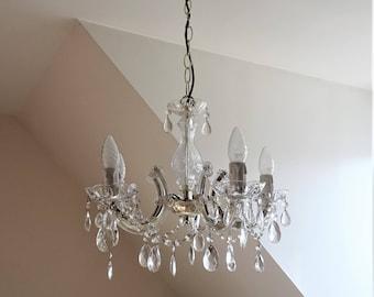 Venetian chandelier with 5 lights chandelier pendants romantic glass illuminati10/gold frame pendants