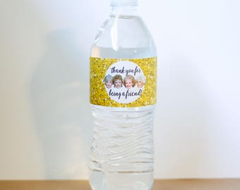 DIY Golden Girls Party Water Bottle Wraps- INSTANT DOWNLOAD, digital file, printable, you print at home, birthday party, retirement party