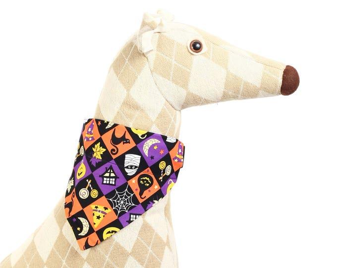 Pet Bandana - Spooky Squares - Pet Scarf - Collar Cover - Halloween