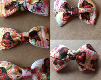 Moana hairbow clips/hair ties double and single and new boutique style bow!