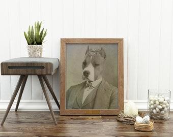Pit Bull, Pit Bull Terrier, Staffie, Staffordshire, Dog, Puppy, Pit Bull Art, Pit Bull Portrait, Pit Bull Print, Dog Art, Dog Portrait, Pit