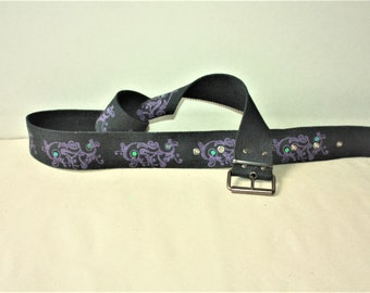 Vintage Black Cotton Belt with Metal Buckle - ... a Fashionista Statement Piece can fit for Size M and L