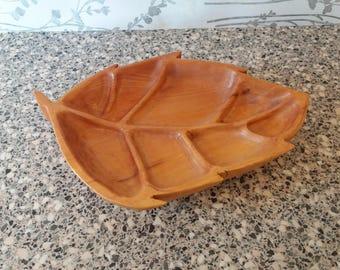 Wooden Leaf Bowl
