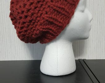Mock Crochet Slouchy Hat