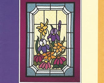 """Cathy Robiscoe's Spectral Designs Pattern 901 """"SPRING FLOWERS"""" Machine Sewn with Full Instructions & Photos  NEW Pattern"""