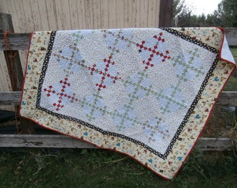 Throw Quilt - Lap Quilt - Wall Hanging - Chickens, and more Chickens! - Youth Quilt - Pieced Quilt - Country Quilt