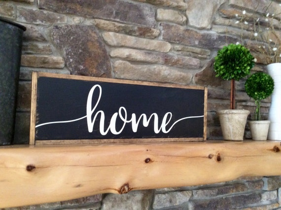 Home Wood Sign Rustic Farmhouse Sign Family Wall Decor