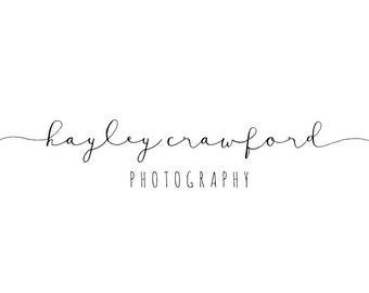 Premade Photography Logo Design - 2 font logo design - Photography Watermark - Logo Watermark - Business Branding - Business Branding