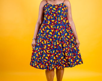 Ankara gown, african print dress, maxi ankara dress, midi dress